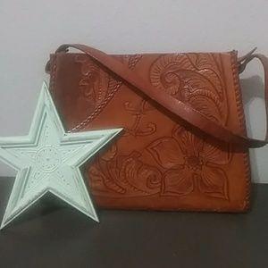 Handmade Tooled Leather Handbag